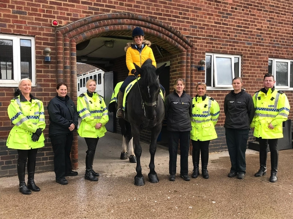 Dianne Oxberry visiting the Mounted Section in 2018